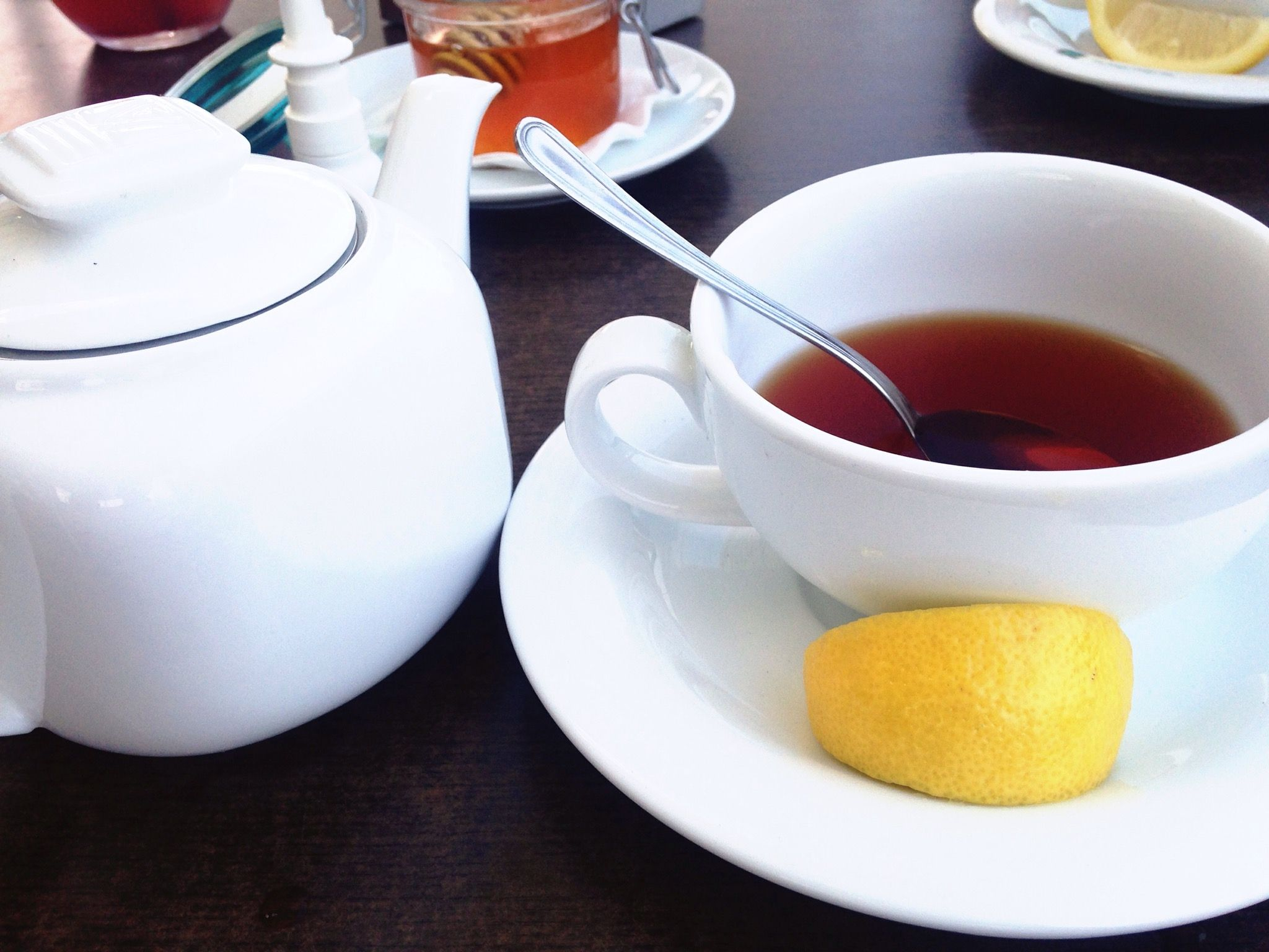 Close-Up Of Tea On Table