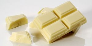 Close-up of white chocolate chunks
