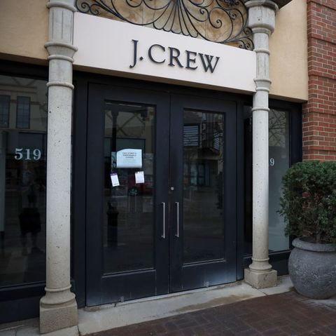 an empty j crew location as the company files for bankruptcy