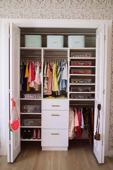 labeled closet