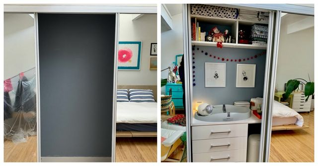 closet baby nook