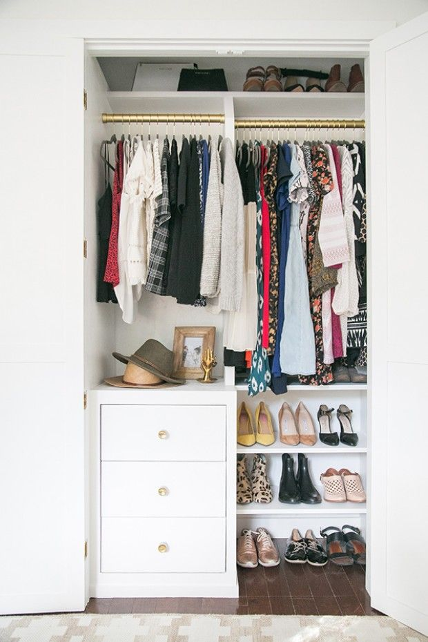 image & 13 Best Small Closet Organization Ideas - Storage Tip for Small Closets