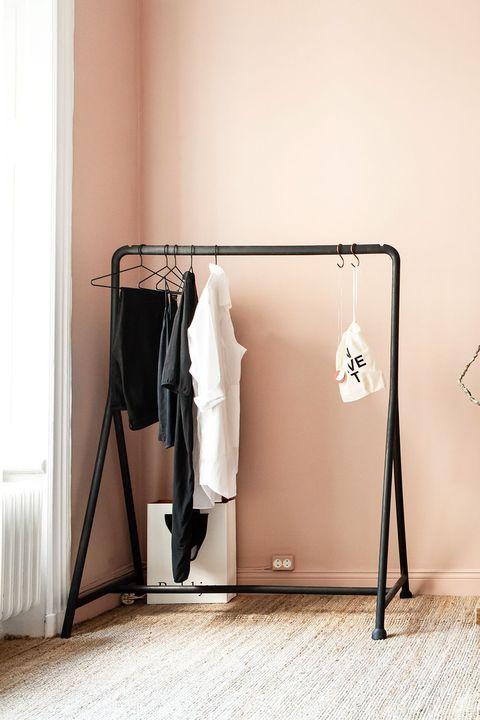 Product, Room, Furniture, Iron, Clothes hanger, Beige, Table, Door, Interior design, Metal,