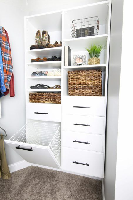 closet organization ideas - hamper