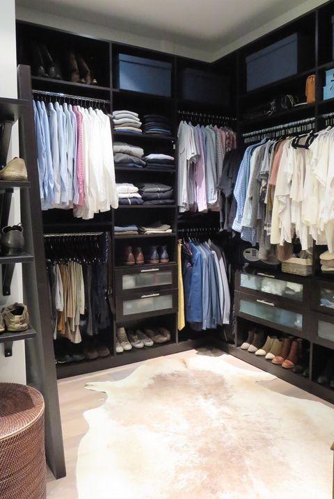 closet organization rug