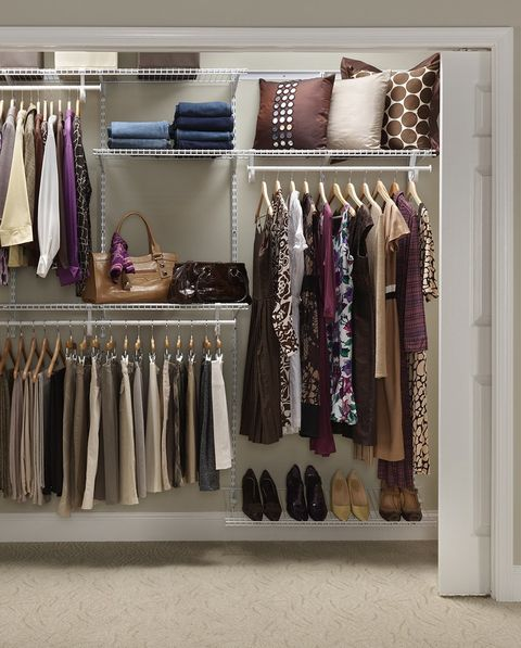 Room, Closet, Clothes hanger, Shelving, Collection, Lavender, Shelf, Home accessories, Wardrobe, Outlet store,