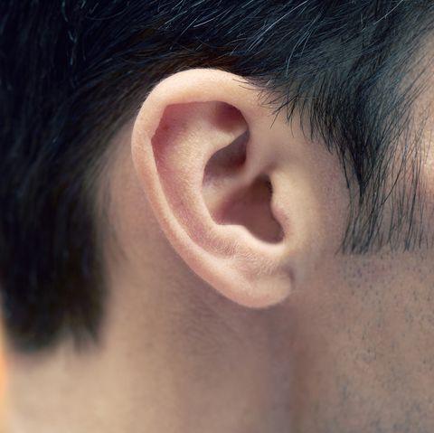 closeup of man's ear