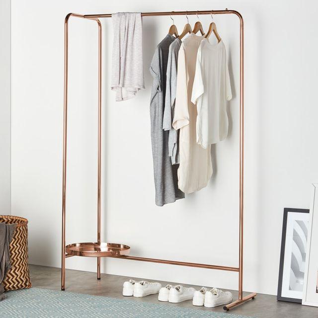 alana hanging rail, copper