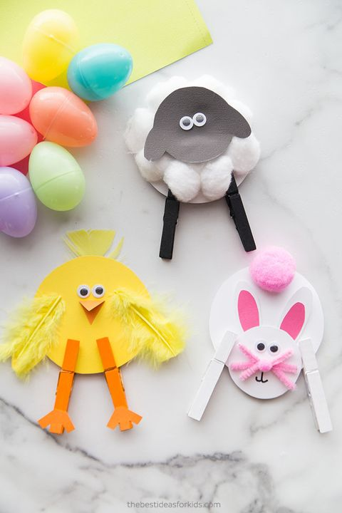 clothespin diy easter cards