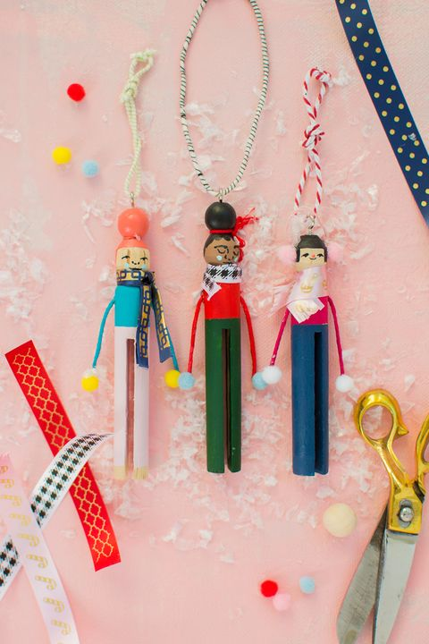 clothespin people diy ornaments