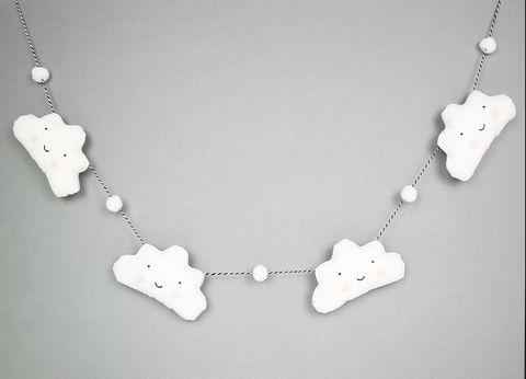 Cloud Garland With Mini Pom Poms