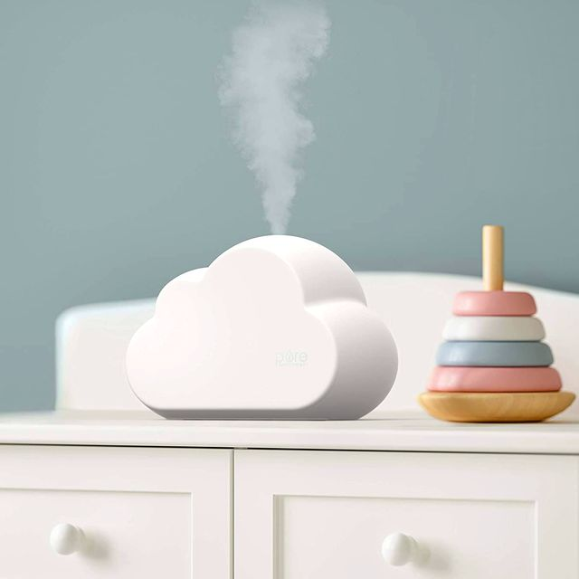 pure enrichment store cloud humidifier on baby changing station