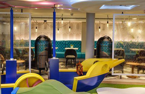 Interior design, Ceiling, Room, Property, Building, Lighting, Design, Architecture, Furniture, Table,