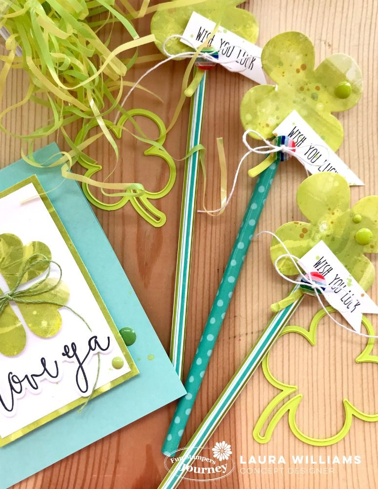 st patricks day pencil topper craft