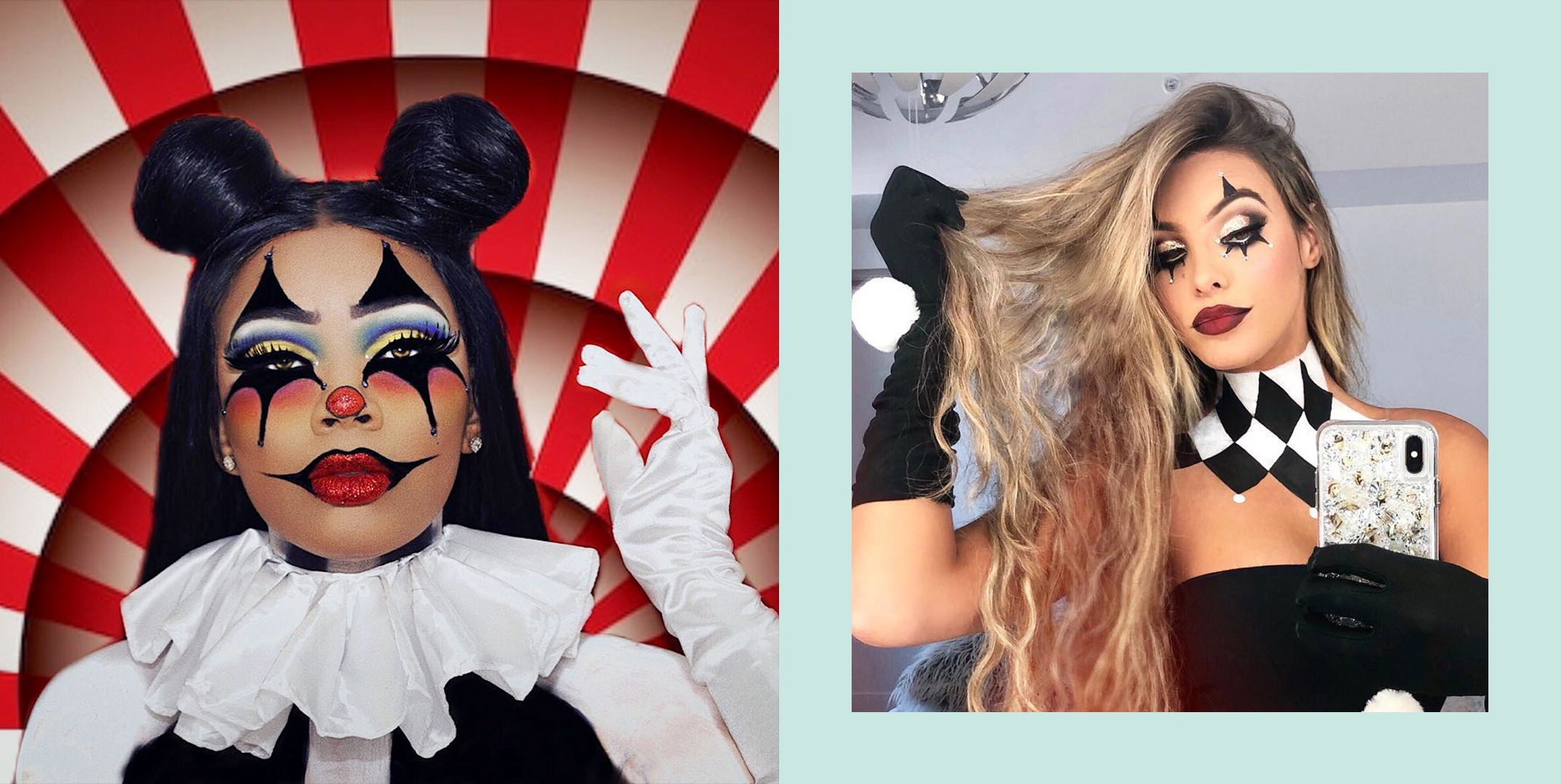Clown Halloween Costumes For Girls.27 Cute Clown Makeup Ideas And Easy Tutorials For Halloween 2020