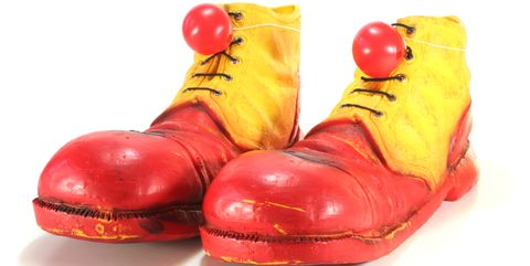 clown shoes with noses