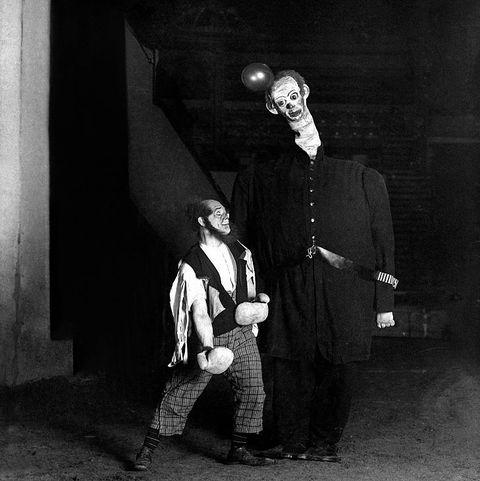 creepy vintage photos   clown