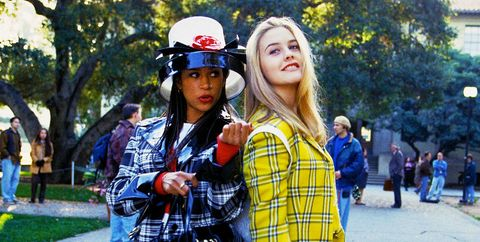 bb51b5848e5 Clueless Trend on the Runways - Yellow Plaid Suit Trend Street Style