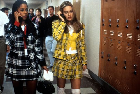 stacey dash and alicia silverstone walking and talking on their mobile phones in a scene from the film 'clueless', 1995 photo by paramount picturesgetty images