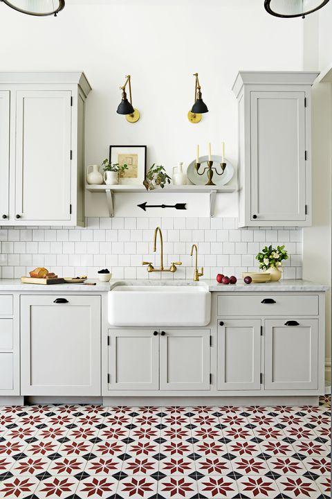 Gray Tile Kitchen