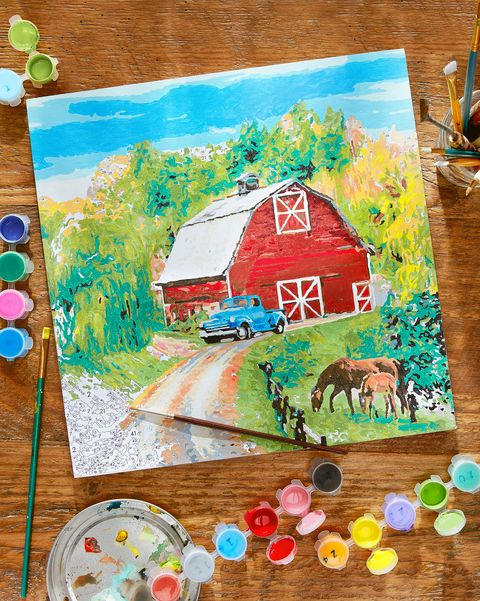 paint by numbers american farm