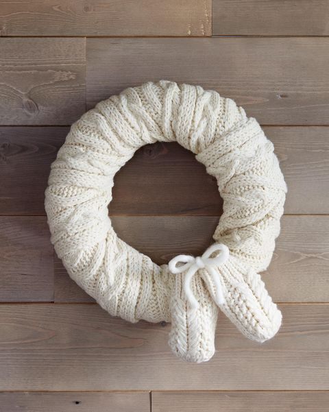 scarf wreath