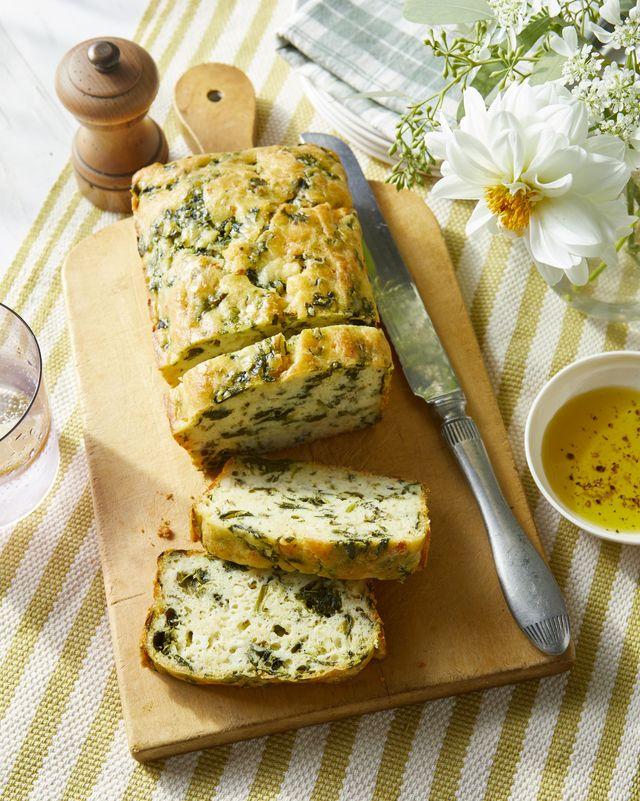 spinach and feta quick bread