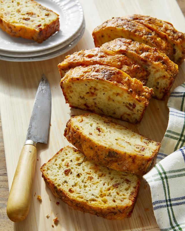 cheddar, bacon, and chive quick bread