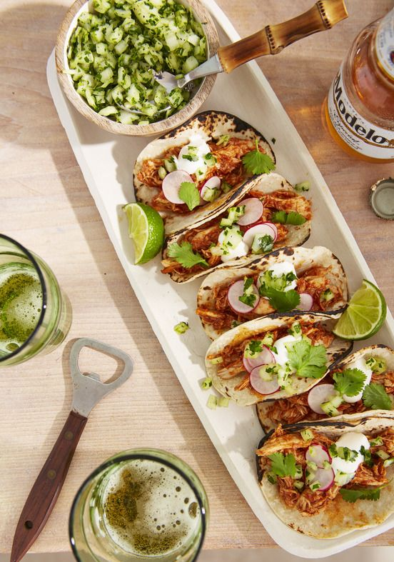 mini chicken tacos
