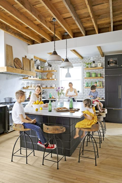 Farmhouse Kitchen Open Shelving
