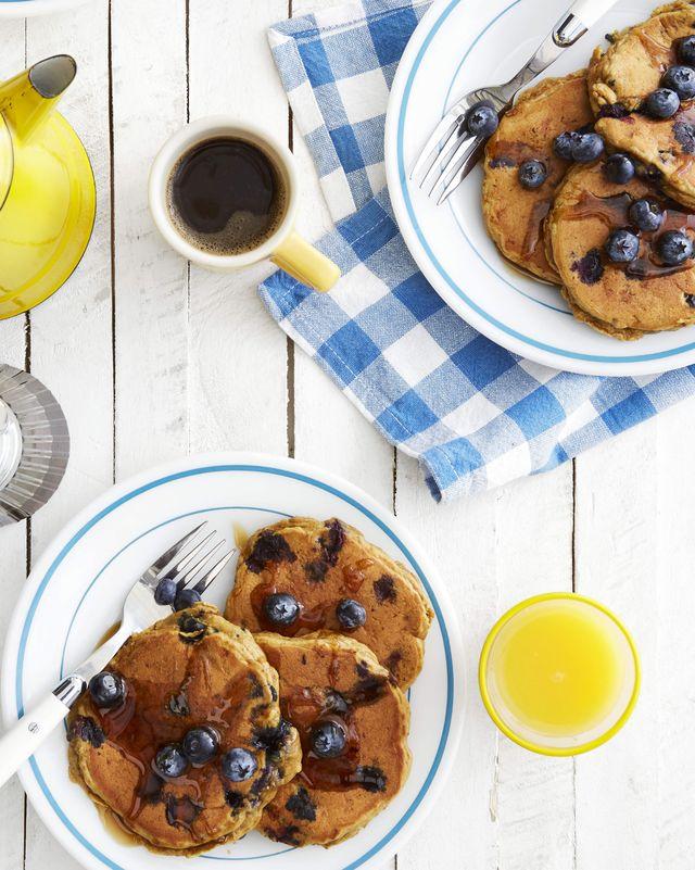 olive's naturally sweet pbj pancakes