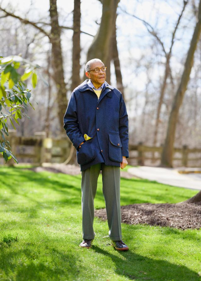 skip grant stands near his home in chevy chase, maryland on april 2, 2021