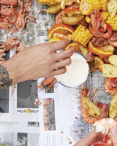 a low country shrimp boil chef whitney otawka greyfield inn greyfieldinncom, located on remote cumberland island, georgia