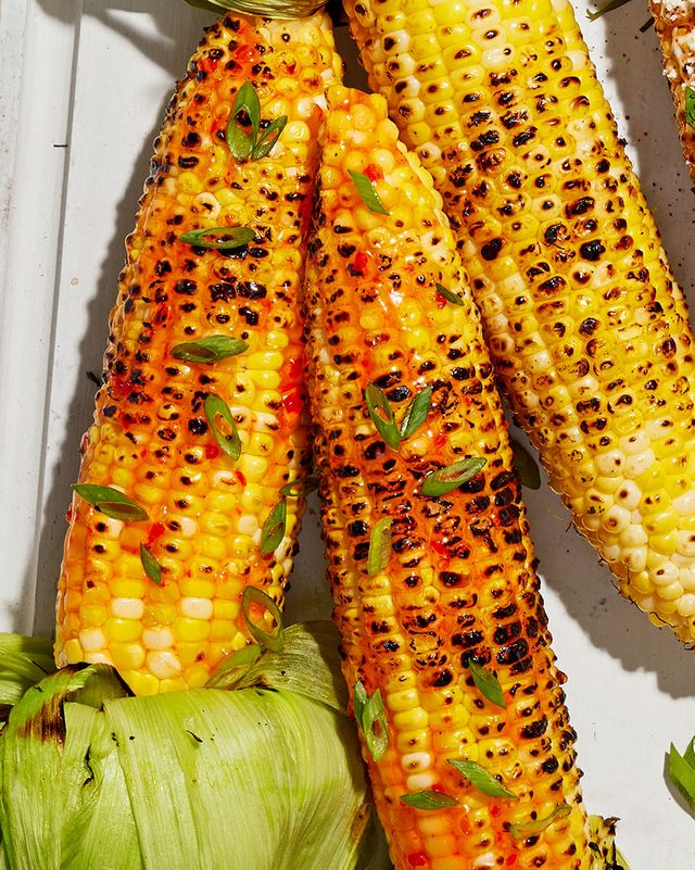 grilled corn with red pepper jelly glaze