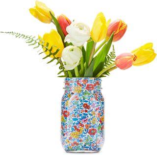 flower vase in a mason jar