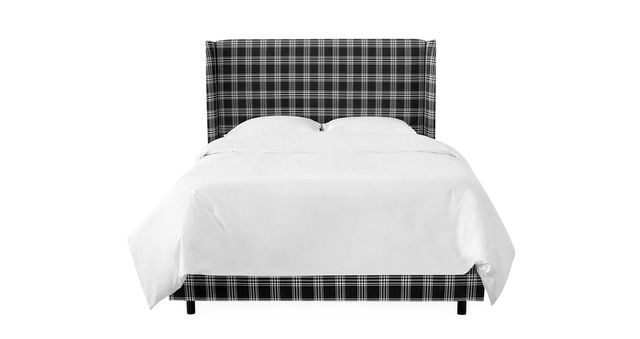 "upholstered bed in ""prep school plaid"" from 970 luluandgeorgiacom"