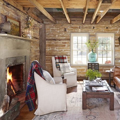 Cozy Living Room filled with rustic elements