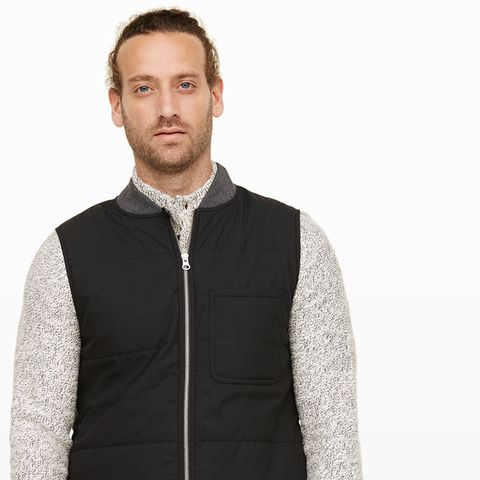 Clothing, Sleeve, Collar, Jacket, Textile, Outerwear, Standing, Facial hair, Style, Fashion,