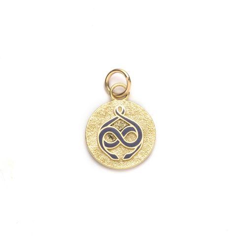 petite pebbled gemini medallion