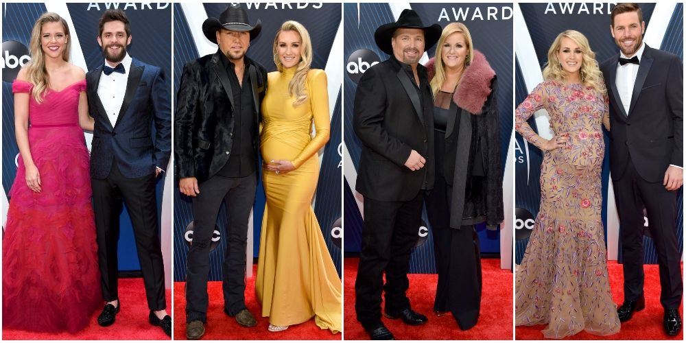all the cutest couples on the 2018 cma awards red carpet