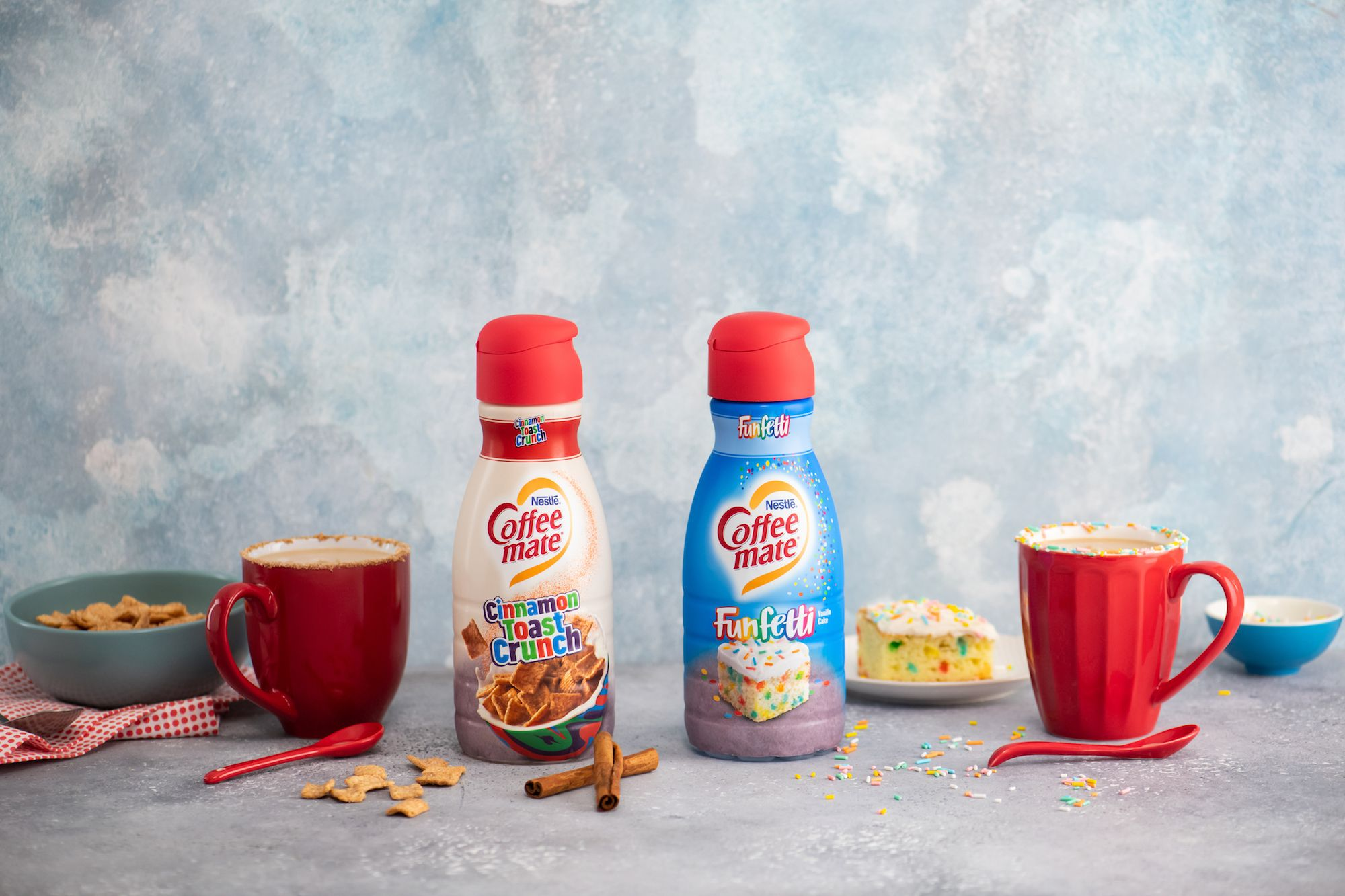 Coffee-Mate Is Coming Out With Creamers That Taste Like Cinnamon Toast Crunch And Funfetti Cake