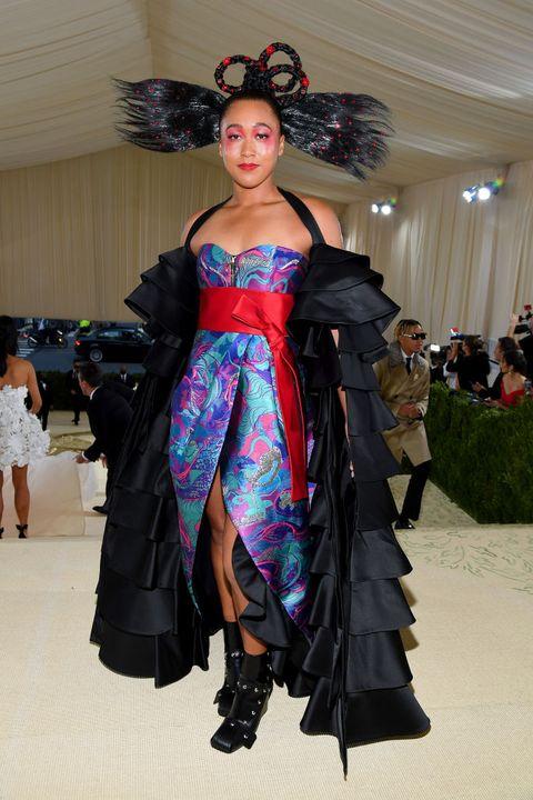 the 2021 met gala celebrating in america a lexicon of fashion naomi osaka in louis vuitton