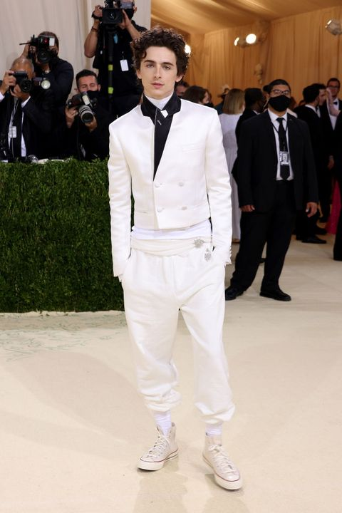 the 2021 met gala celebrating in america a lexicon of fashion arrivals timothee chalamet