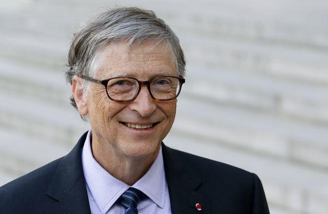 french president emmanuel macron receives bill and melinda gates at elysee palace