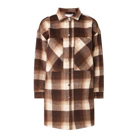 co'couture kelly overshirt met ruitdessin en borstzakken