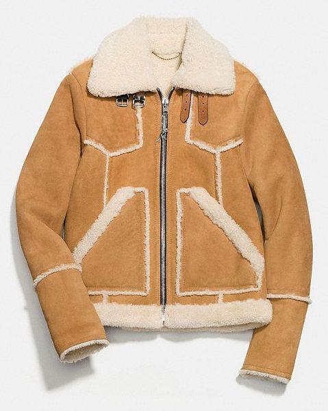 chaqueta cuero borreguillo hombre