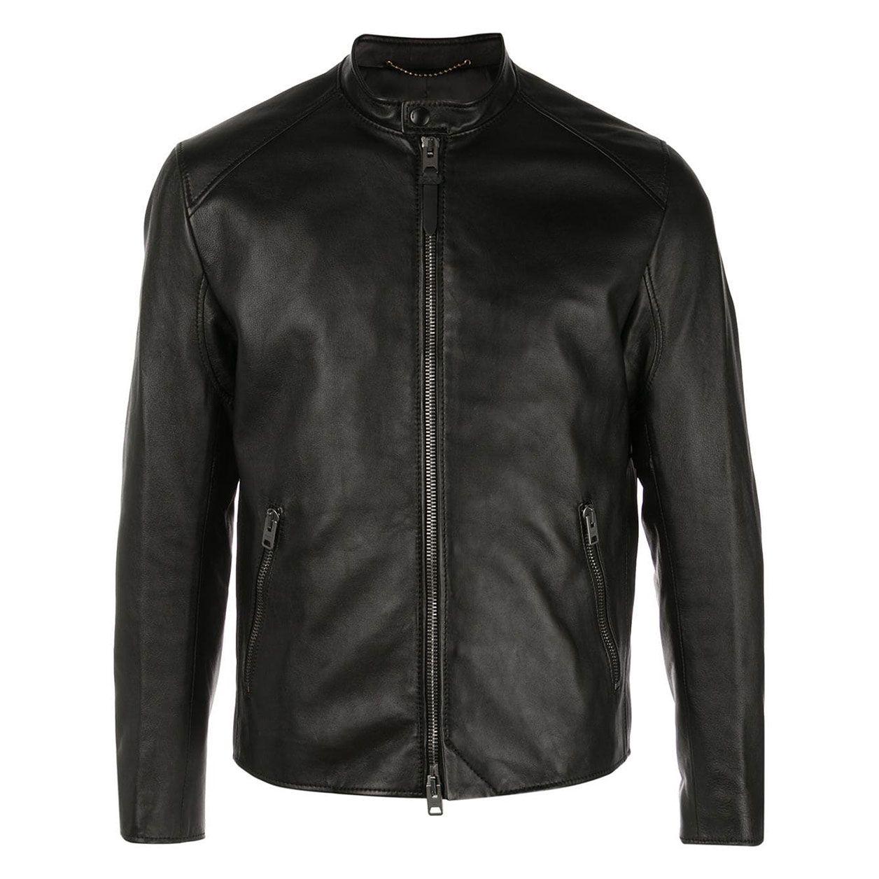 Fashion PU Leather High Collar Rocky Women/'s Coat Jacket Motor Bike Locomotive