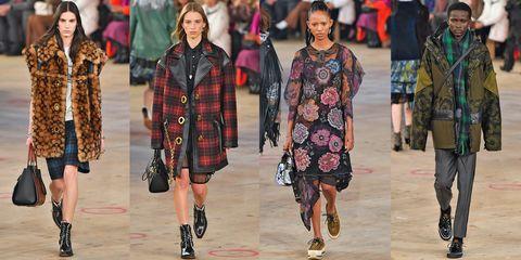 Fashion, Runway, Fashion show, People, Street fashion, Fashion model, Tartan, Fashion design, Textile, Human,