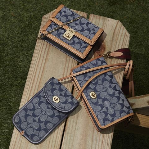 coach signature chambray 系列帆布包包