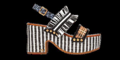 Footwear, Shoe, Product, Orange, High heels, Sandal, Wedge, Fashion accessory,